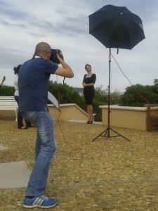 Shooting with Luisa Ranieri